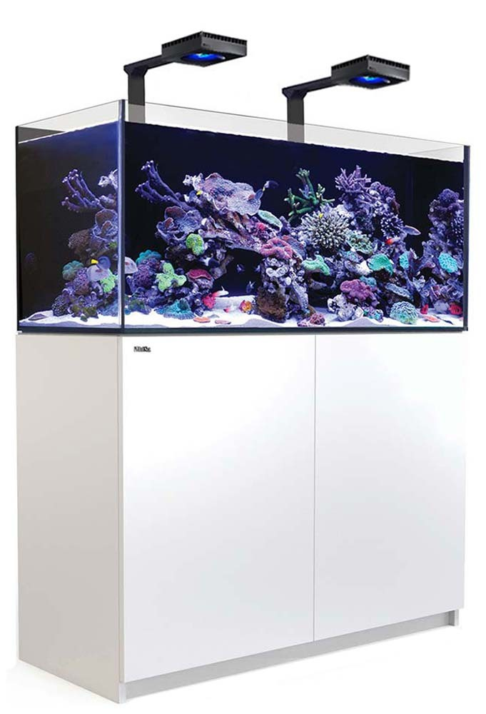 Red Sea Reefer 425 XL Deluxe Aquarium w/ ReefLED 90 Lights - 112 Gallon (White)