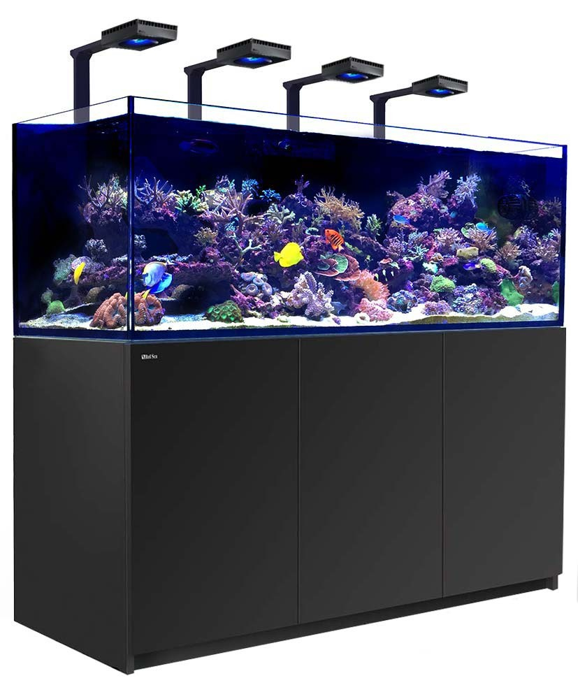 Red Sea Reefer 750 XXL Deluxe Aquarium w/ ReefLED 90 Lights - 200 Gallon (Black)