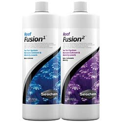 Seachem Reef Fusion Two Part System 1 & 2 Calcium and Carbonate Supplement - 1 Liter each