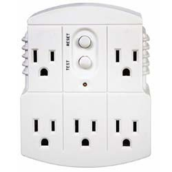 5-Outlet Adapter Plug GFCI - Tower Manufacturing