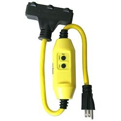 Shock Buster 3-Outlet Electrical Cord with Inline GFCI - Tower Manufacturing