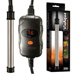 ViaAqua Titanium Heater 200 Watt