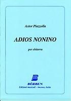 Piazzolla Adios Nonino for Guitar EC11307 Libertango