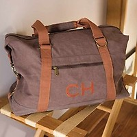 659fd4a8d960 Personalised Canvas Weekend Bag