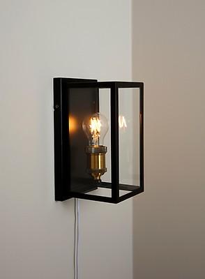 Niki vegglampe 6W LED Hvit med dimmer   Belysning.online