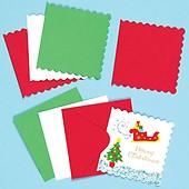 Weihnachtskarten Blanko.Festliche Blanko Weihnachtskarten Baker Ross