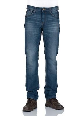 Tom Tailor Herren Jeans Marvin Straight Fit - Blau - Mid Stone Wash Denim 04f231d87c