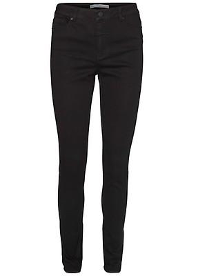 4c269965e99b Vero Moda Damen Jeans VMSEVEN NW SS SMOOTH JEANS BLACK NOOS Slim Fit -  Schwarz -