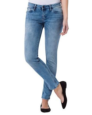 1aff17a5 Cross Jeans Damen Jeans Adriana - Super Skinny Fit - Blau - Light Blue Denim
