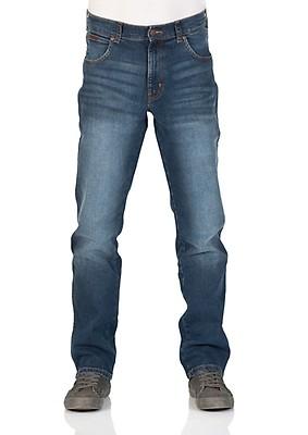 47b02a43a6c2 Wrangler Herren Jeans Texas Stretch - Regular Fit - Blau - Jet Blue - Mid  Rocks
