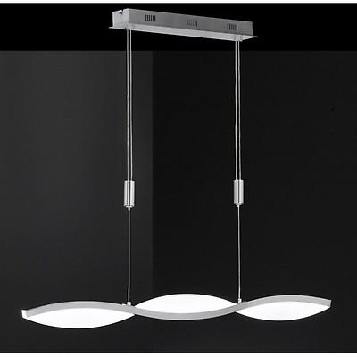 Brilliant Leuchten Banda Pendelleuchte LED Nickel Matt