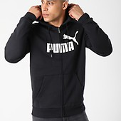 851765 Big Puma Capuche Blanc Logo Fz Zippé Sweat Noir Essential qwZpOC