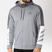 Sweat Zippé Gris Adidas Accelerate Capuche Dm7561 qOwd5