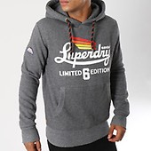 Limited Gris Icarus Chiné Capuche Sweat Superdry UvqnAwE61