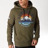 Vert Superdry M20007tr Trail Mountain Capuche Sweat Kaki XXqPw0R