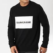 Box Noir 9542 Institutionnal Pull Blanc Calvin Klein CwZtqxU1