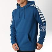 Bandes Sweat Capuche Blanc Bleu Brodées Outline Ciel Adidas Dx3851 B7E61ZBW