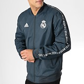 Avec Dp4023 Bayern Munchen Bandes Zippée Fc Bleu Veste Adidas qFwES1q