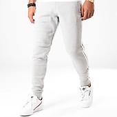 adidas Pantalon Jogging A Bandes Outline ED4691 Gris Chiné