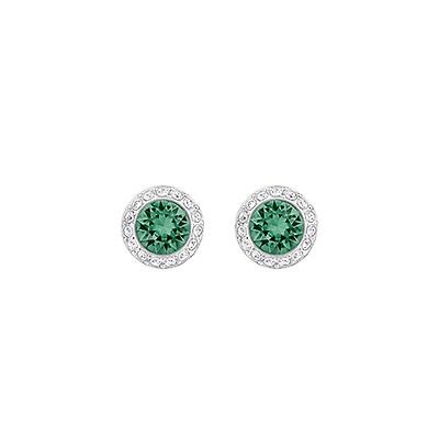 7f545a63e Swarovski Circle Double White Rhodium Plated Pierced Earrings