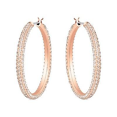 eee22a17a Swarovski Angelic Rose-Gold Plated Mini Hoop Earrings