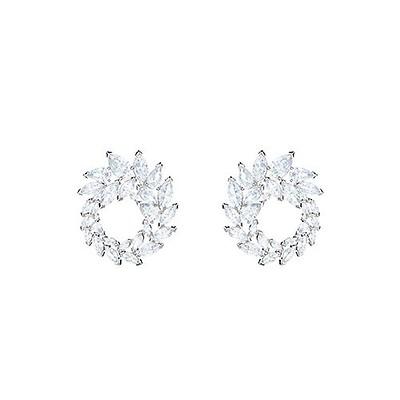7c28ed2ee93c4f Swarovski Louison Rhodium-Plated Pearl & Crystal Stud Earrings