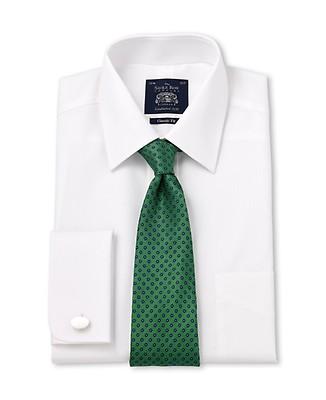 3b6f9a4c0c1a4e White Marcella Bib Front Slim Fit Evening Double Cuff Shirt - Shirts ...