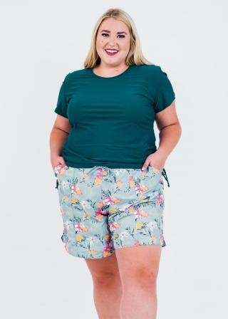 """Plus Size Adele Swim Top With 7"""" Board Shorts"""