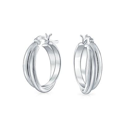 51c0fe690e Large Heart Shaped Tube Big Hoop Earrings For Women Teen 925 ...