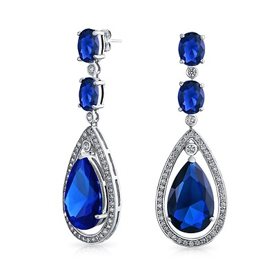 721917808 Round Solitaire Halo Royal Blue 8mm Cubic Zirconia Simulated ...