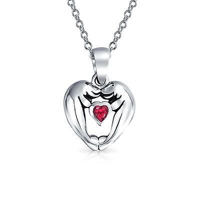 b2eda5546677 Devil Horns Heart Shape Slide Pendant Necklace For women For ...