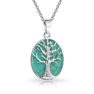 f7d79dc7e4e98 Small Reversible Family Tree Of Life Pendant Round Disc Wishing Tree ...