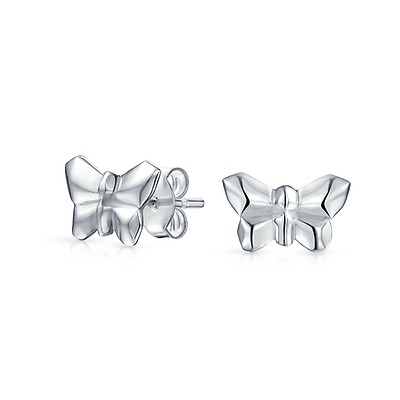 b3327c6d1 Tiny Minimalist Lucky Butterfly Stud Earrings For Women For Teen For ...