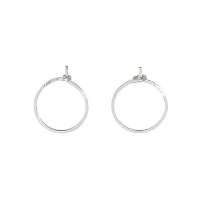 891260d2b9ff3 Catbird, Big Hoop Dream Earrings, Silver