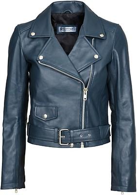 6425a0ea CREATIVE COLLECTIVE - Hildur mørkeblå bikerjakke til dame