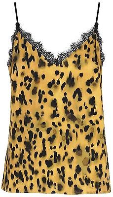 6c30fa7d2 ANINE BING - Silk Camisole rød leopardmønstret topp til dame