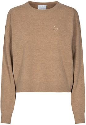POLO RALPH LAUREN Cable knit cotton beige genser til dame