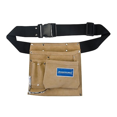 Technics 9 Pocket Tool Pouch With Kick Stand Heavy Duty Quality Tool Belt Holder