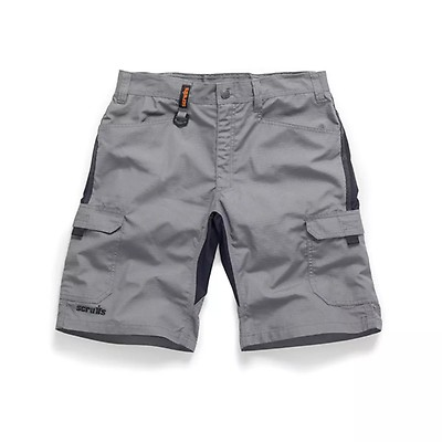 ea819bf8a1 Scruffs Trade Flex Slim Fit Work Shorts Graphite Grey Hardwearing (Various  Sizes)
