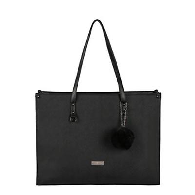 634c8bc2f1 Supernova Pompom Ladies Laptop Bag - Black