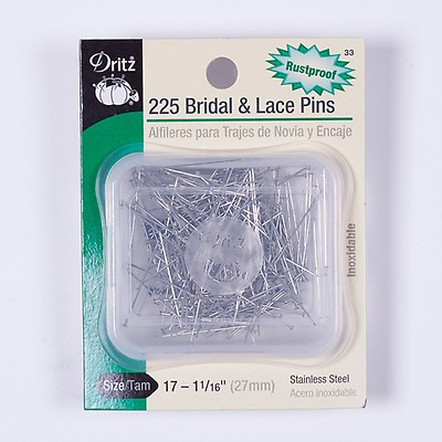 1-1//16 Dritz 49 200 Piece Silk Pins for Sewing