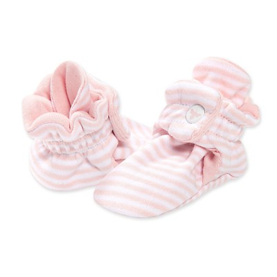 Burts Bees Baby Unisex Baby 6-9 Months Boys Girls Adjustable Quilted Bee Booties Blossom Organic Cotton