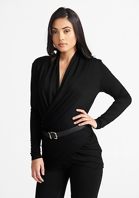 8b468274e9 Tall Lux Pullover Wrap Top