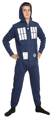 Doctor Who  TARDIS Adult Onesie with Removable Feet  e742cff84