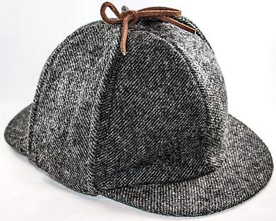 Deerstalker Hat  Grey Tweed 7722bfefb3dc