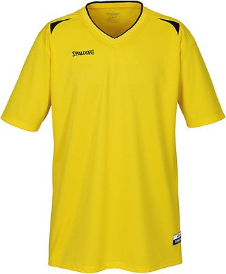 82f6fc3a0349 TEAMWEAR - Spalding Mens Crossover Jersey Only - Yellow Black - UK ...