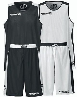 440a7fb2ec5f TEAMWEAR - Spalding Unisex All Essential Reversible Basketball Kit - Black  White