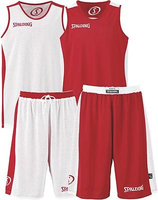 13ec19ff20e6 TEAMWEAR - Spalding Unisex All Essential Reversible Basketball Kit -  Red White