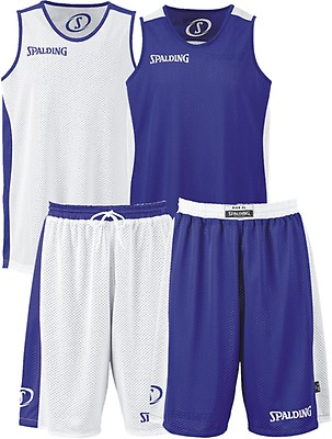 453b18b3c1f7 TEAMWEAR - Spalding Unisex All Essential Reversible Basketball Kit - Royal  Blue White
