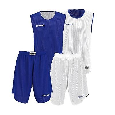 bf4e0ebf0517 TEAMWEAR - Spalding Kids Youth Doubleface Reversible Basketball Kit - Royal  Blue White